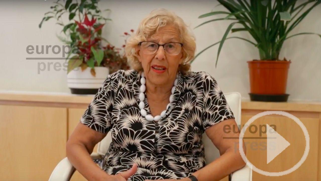 Manuela Carmena manda un vídeo a Barcelona tras los atentados