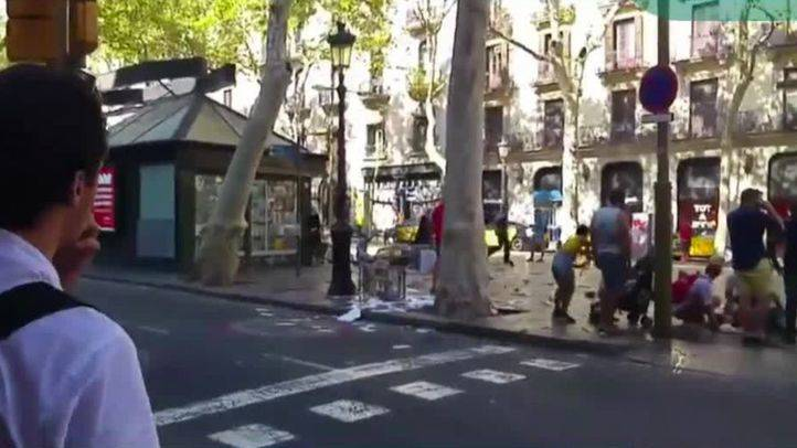 Atentado terrorista en La Rambla de Barcelona