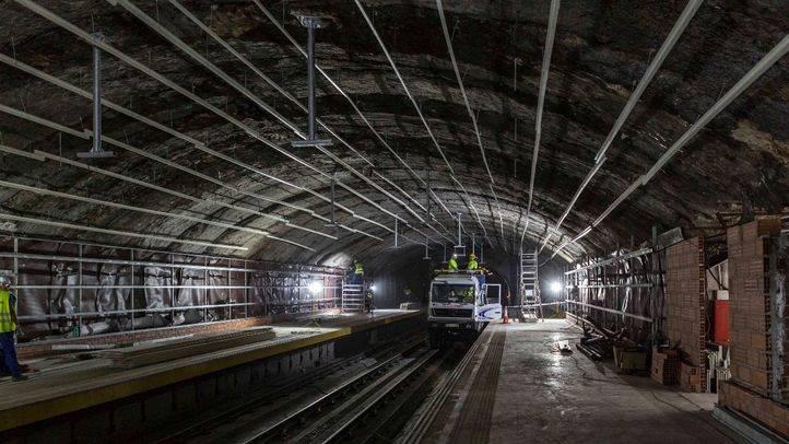 Obras en la Línea 5, que reabre sus puertas el domingo.