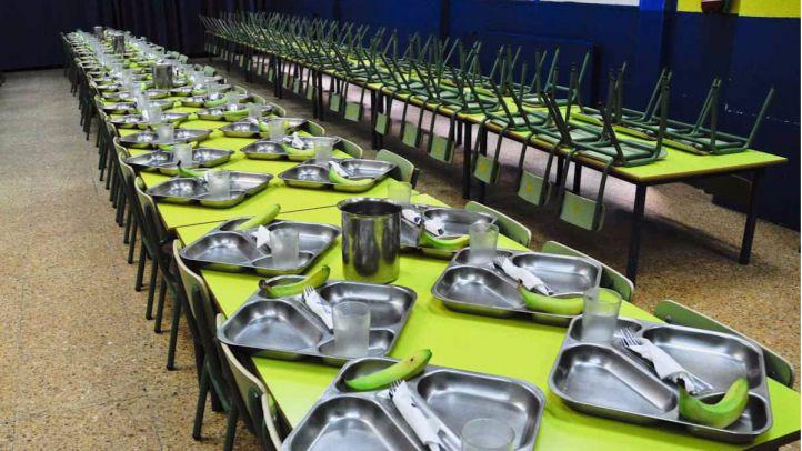 Se mantiene la cuantía mensual de 96 euros para los comedores de Educación Primaria