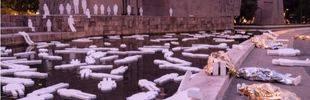 Colón se convierte en el cementerio simbólico de 500 niños ahogados en el Mediterráneo