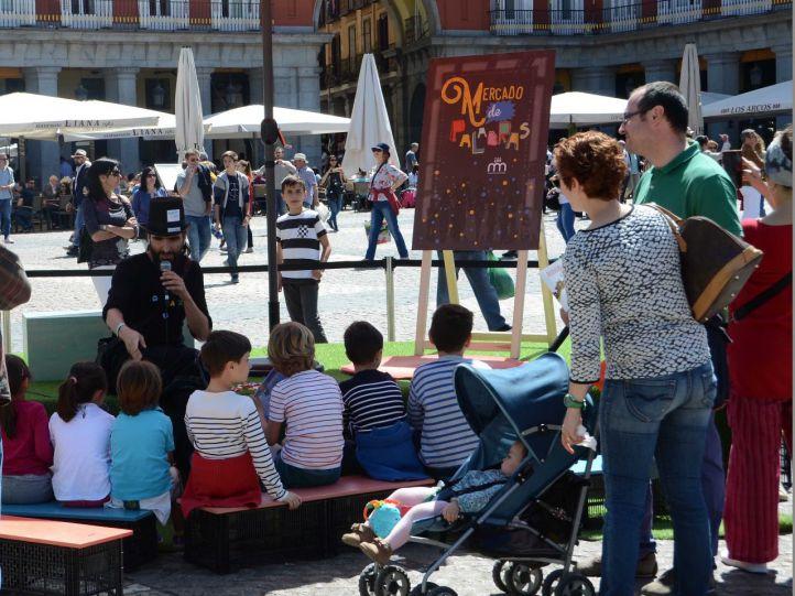 El Mercado de Palabras, de nuevo en la Plaza Mayor
