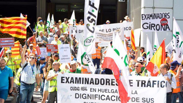 Los examinadores de tráfico reinician la huelga este lunes