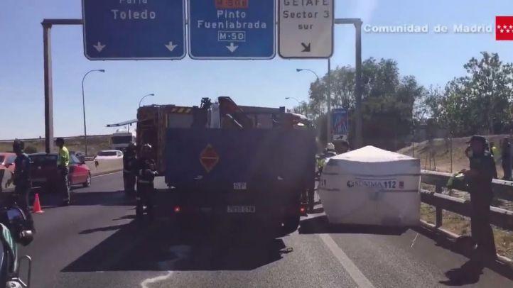 Fallece un hombre al ser arrollado por un camión