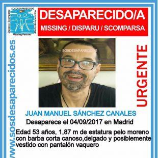 Juan Manuel, desaparecido zona del distrito de Chamartín.