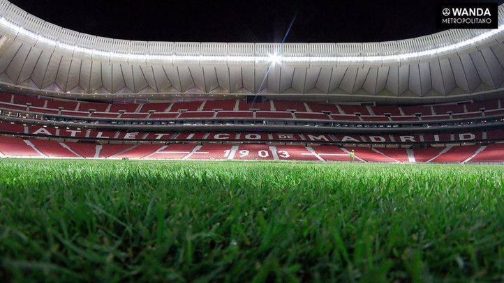 Césped del Wanda Metropolitano.