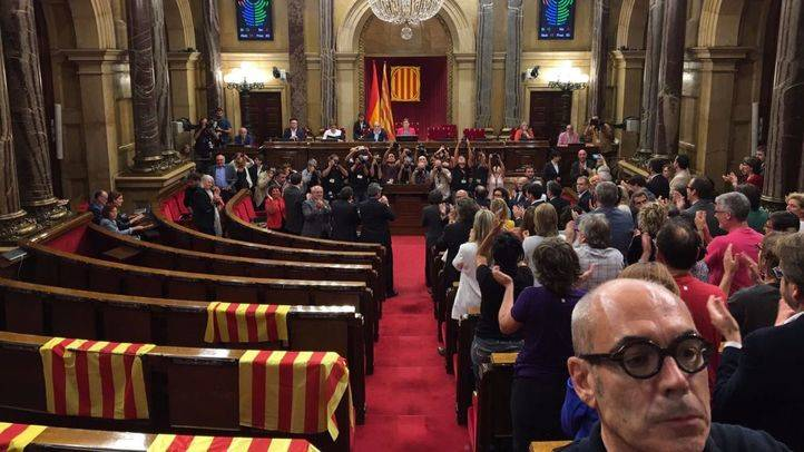 El Parlament, tras la votación de la Ley de Referéndum