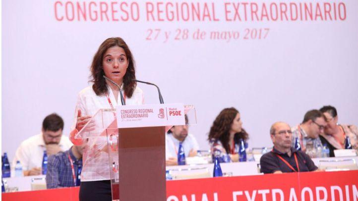 Sara Hernández, en el último congreso regional extraordinario del partido que presidió.