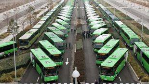 Panorámica de los autobuses interurbanos de Madrid. (Archivo)