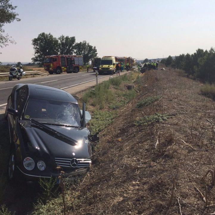 Un herido grave y cuatro leves en un accidente en la M-307