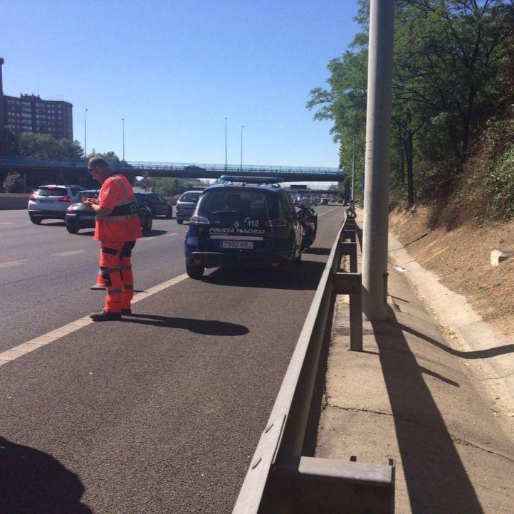Herido grave un motorista tras una accidente en la M-30