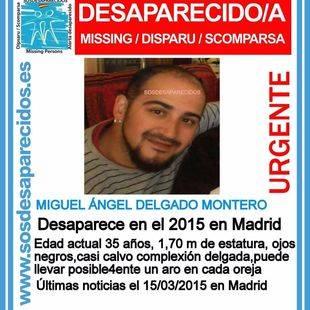 Un hombre de 35 años, desaparecido desde 2015