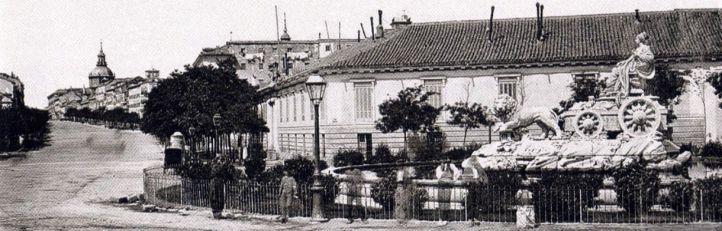 Antigua ubicación de la fuente de Cibeles.