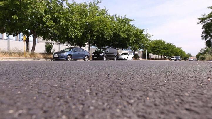 Carretera de Fuenlabrada hecha con NFU.