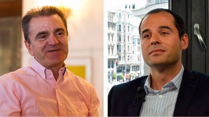 El precandidato a la Secretaría General del PSOE-M, José Manuel Franco y el portavoz de Ciudadanos en la Asamblea de Madrid, Ignacio Aguado