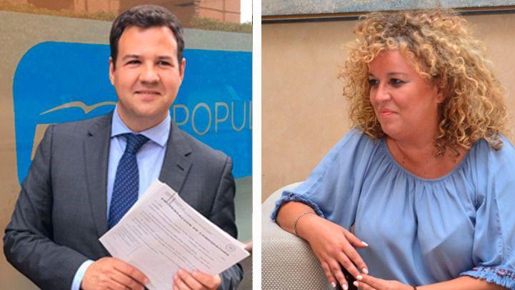 Jose de la Uz, alcalde de Las Rozas y Cristina Moreno, alcaldesa de Aranjuez