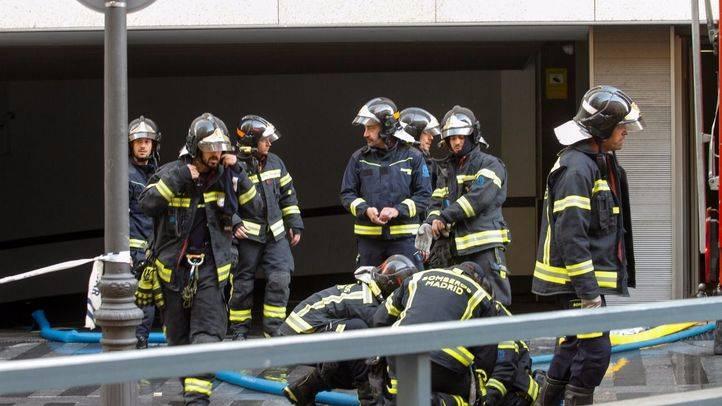 Foto de archivo de  bBomberos del Ayuntamiento de Madrid durante una intervención.