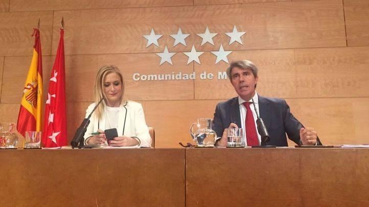 Cristina Cifuentes y su portavoz Ángel Garrido, este martes
