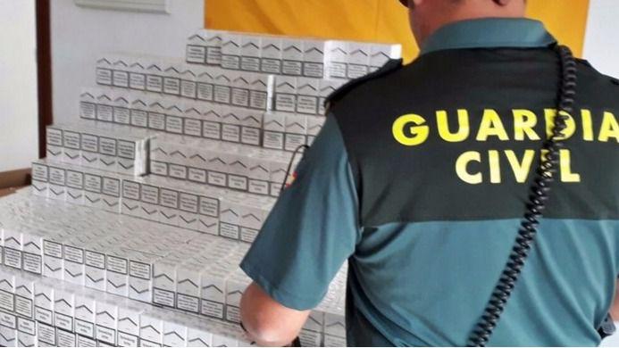 Interceptadas 2.500 cajetillas de tabaco de contrabando