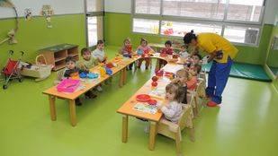 Aula de una escuela infantil municipal de Madrid.
