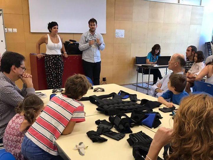 Un traje Simulador del Envejecimiento en el MUNCYT de Alcobendas