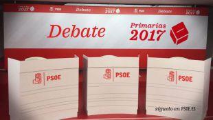El debate será similar al último entre socialistas en Madrid fue en Ferraz en mayo, con Pedro Sánchez, Susana Díaz y Patxi López.