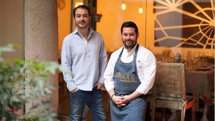 Manu Urbano, el chef, y Aaron Guerrero, su socio.