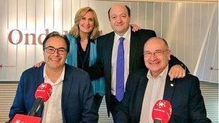 Luis Martínez Hervás y Santiago Llorente, alcaldes de Parla y Leganés, en Com.Permiso de Onda Madrid.