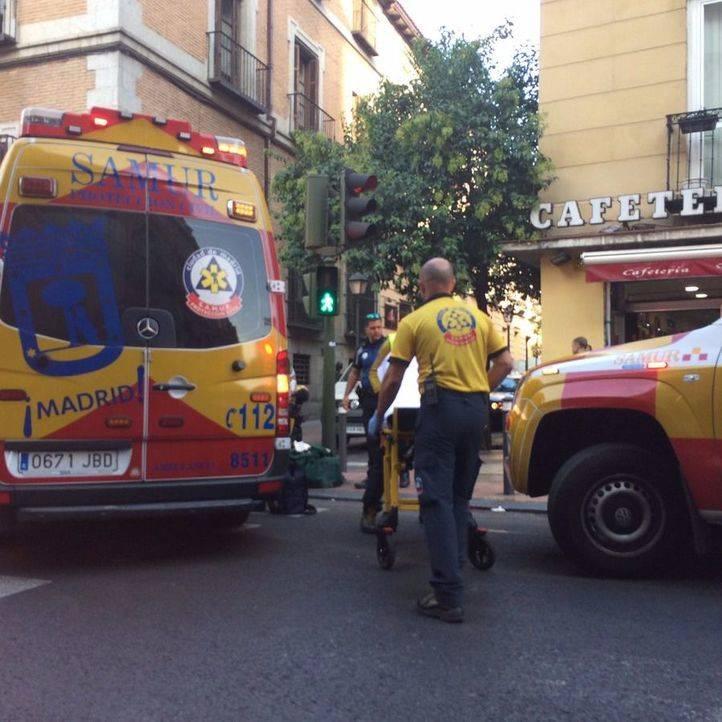 Golpeado en la cabeza un hombre de 61 años por una furgoneta en San Bernardo