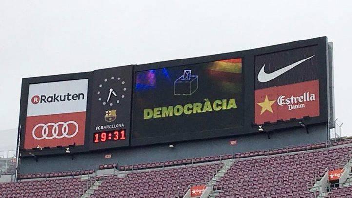 El Barcelona-Las Palmas se ha jugado a puerta cerrada
