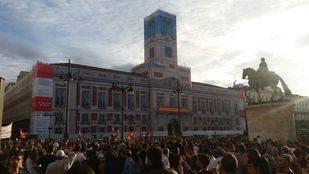 Manifestación contra la represión del Gobierno en Cataluña