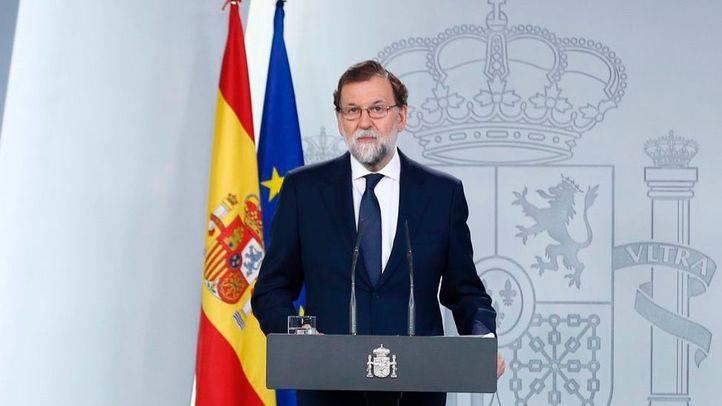 Rajoy, Sánchez y Rivera, unidos por el Estado de Derecho