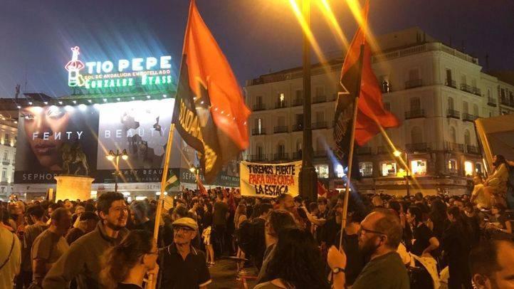 Manifestación del 1-O convocada en la Puerta del Sol.
