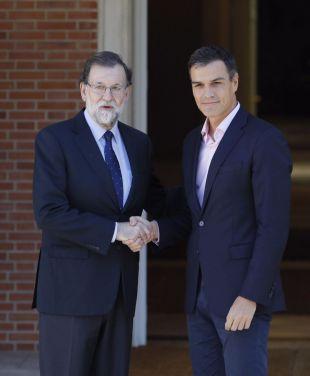 Rajoy se reúne con Sánchez y Rivera