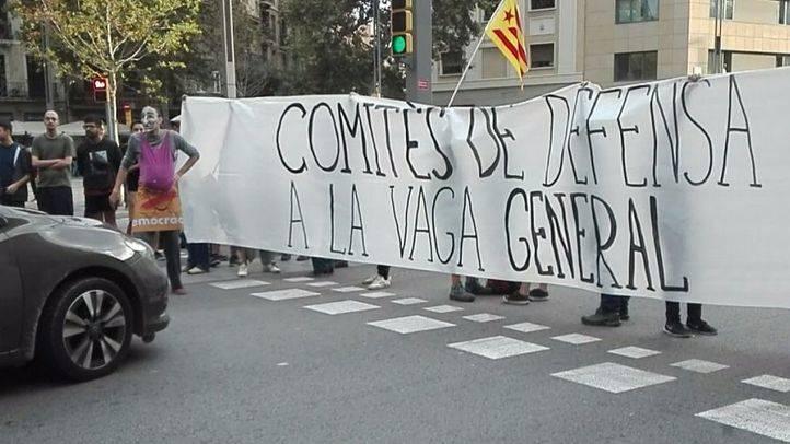 Cortes de carretearas y tráfico por la huelga general en Cataluña