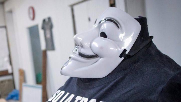 Foto de archivo de una máscara de anonimous.