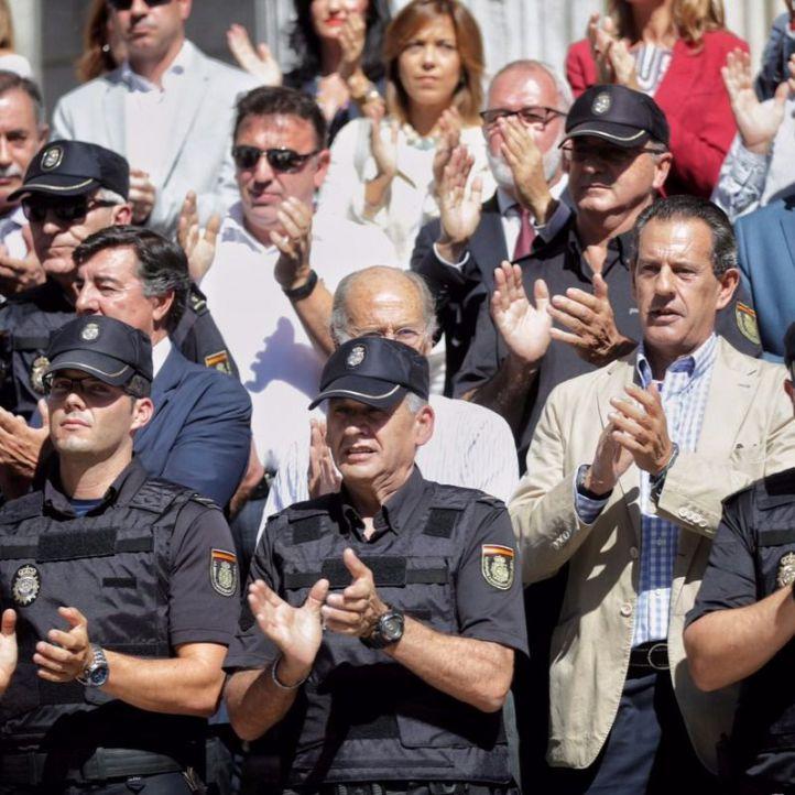 Los policías del Congreso se manifiestan