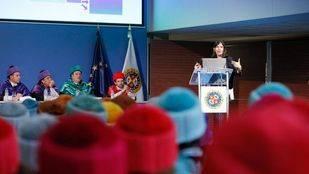 La doctora María Blasco, directora del CNIO, durante su intervención.