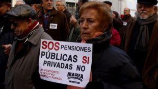 Las protestas de pensionistas de toda España confluirán este lunes en Madrid