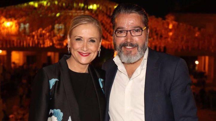 Cristina Cifuentes y Borja Gutiérrez, en las fiestas de Brunete