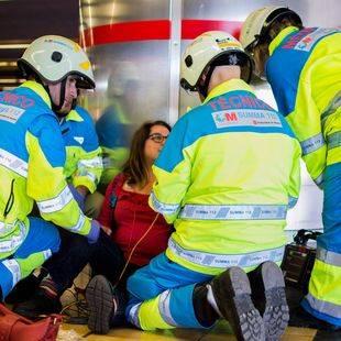 Así ha sido el simulacro de emergencia en Metro