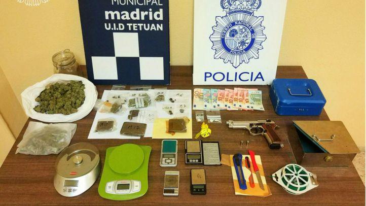 Detenido por tenencia ilícita de armas y posesión en Tetuán