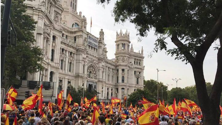 Manifestación del pasado fin de semana contra el referéndum de Cataluña