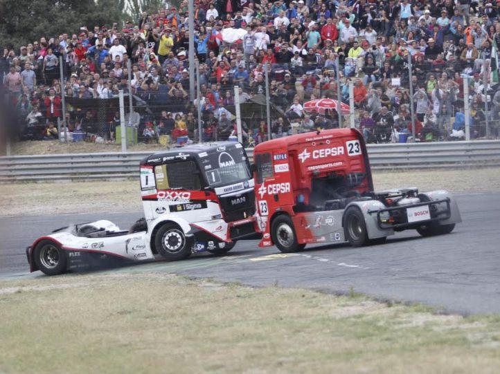 Dipositivo de tráfico para el Gran Premio Camión de España