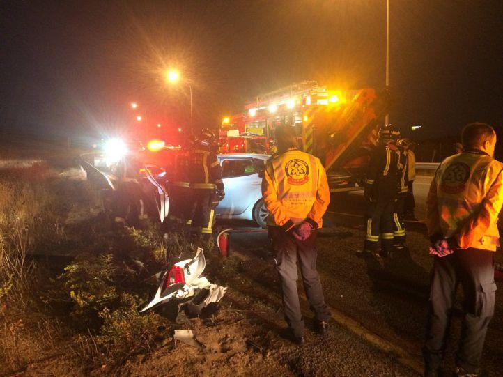 Muere una joven en Los Berrocales tras chocar con su coche