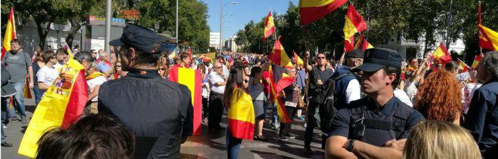 La Policía media entre los manifestantes en Madrid