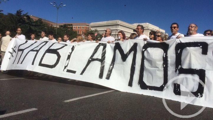 Manifestantes de Cibeles