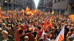 La concentración en Barcelona por la unidad nacional, una llamada a