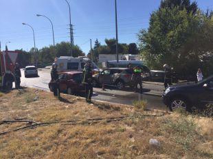 Colisión entre cinco coches en Pozuelo de Alarcón
