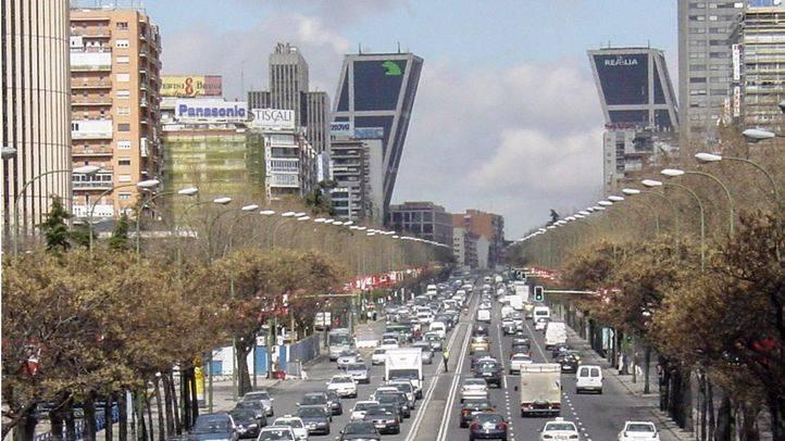 Vista desde el puente de Raimundo Fernández Villaverde de la Castellana.